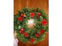Xmas imatation wreath choice of two
