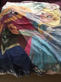 Single Disney frozen bed cover used once