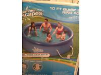 Summer escapes 10 ft pool quick set with filter and pump