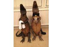 Taxidermy crocodiles