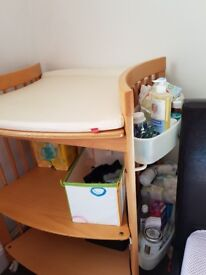 Stokke changing table and desk