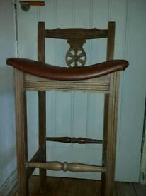 Old charm bar stool