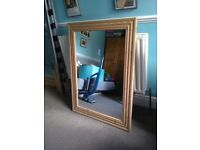Large pine frame mirror 79cm by 110cm