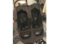 Twins baby jogger Black