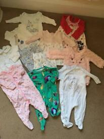 Girls 0-3 months clothes