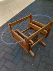 Baby Moses basket rocking stand