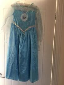 Elsa Dress Up with shoes age 7-8