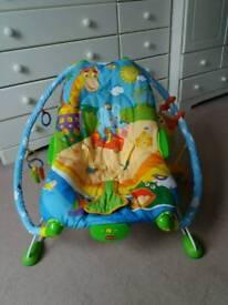 Baby bouncer - vibrating chair & interactive crab