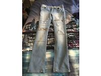 mens super skinny jeans new no tag brought wrong size 32 waist 34 leg