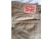 Khaki Levis jeans (W34 L30) worn once