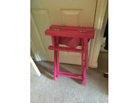 Pink Playboy folding directors chair