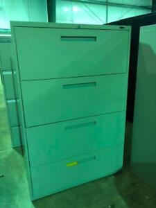 Global 4 Drawer Lateral Filing Cabinets - Center Pull - $279