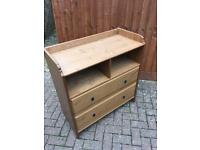 Pine two drawer cabinet