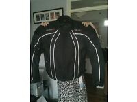 Motorbike GEAR X Jacket Two Pairs of Hand Muffs Tank Bag and Oxford Seat Bags