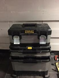 STANLEY TOOLBOX WITH LOTS OF USEFUL EQUIPMENT