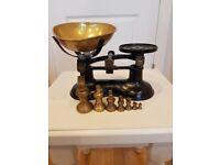 Vintage brass kitchen scales