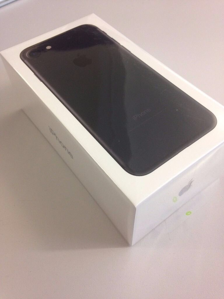 iPhone 7 32gig brand new black 02in Eccles, ManchesterGumtree - iPhone 7 32gig brand new in box not been opened on 02/giffgaff/Tesco black. Unwanted upgrade offers or up for swaps?