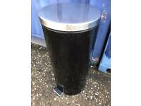 Black stainless steel kitchen bin FREE DELIVERY PLYMOUTH AREA