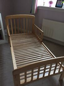 John Lewis Anna Junior and Toddler Bed in Natural. Excellent condition. Collection only.