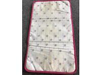 Pink lining Yummy mummy bag changing mat