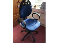 OFFICE SWIVEL CHAIR, HEIGHT AND TILT ADJUSTABLE
