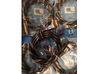 Job Lot x50 gold tip hdmi leads all brand new