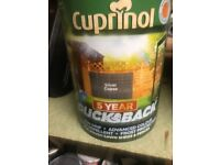 Cuprinol silver copse ducksback shed / fence paint £8 per tin