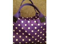 Purple Dotty Bag Brand New
