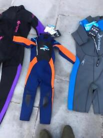 Job lot wet suits and foot where