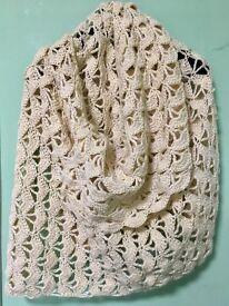 Hand knit wool shawls handmade - free P&P in the UK