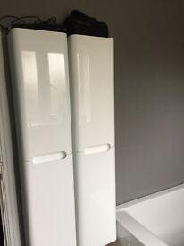 2 Bathroom wall hung cabinets