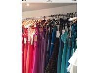 EVENING/PROM DESIGNER DRESSES 75 SELLING AS A JOB LOT