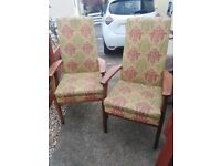 Antique Parker knoll chairs