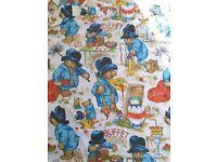 Vintage Paddington Bear - set of curtains