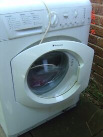 Hotpoint Washing machine used but in good condition. I have used for 3yrs not sure of its age.