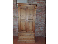 Large Waxed Pine wardrobe (Delivery)