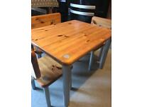 Kids table with bench and 2 chairs