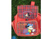 Mickey Mouse Children's School Rucksack