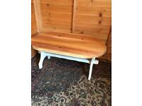 Solid pine stretcher coffee table (can deliver)