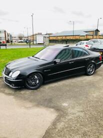 MERCEDES E55 AMG AUTO F1 SHIFTS SUPERCHARGED REMAPPED 600 BHP+