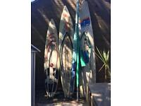 2 x full windsurfers and spare board