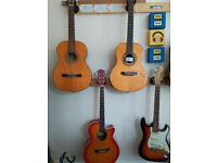 Guitars for sale - 4 guitars - £50 ono - Make great decorations but aren't really good for playing