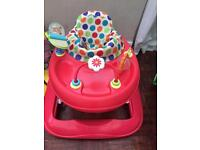 Red kite baby walker brilliant condition with toy bar