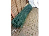 Roll Green plasticoated fencing mesh