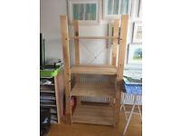 Large IKEA pine shelves/storage unit
