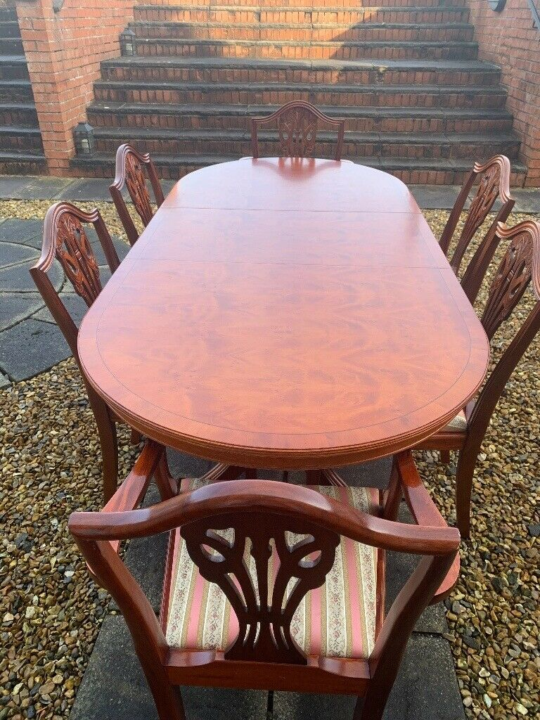 dining table and six chairs  in denny falkirk  gumtree