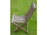 Six Wooden Garden Chairs