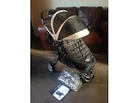 CAN POST EXC COND BABY JOGGER CITY MINI PUSHCHAIR & FOOTMUFF & RAINCOVER WINTER PRAM PACKAGE BUNDLE
