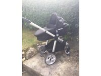 I-candy apple 2 pear pushchair with carrycot and maxi cosy adaptors