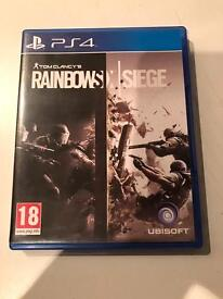 rainbow six siege , ps4 , as new ! price stands , no offers !